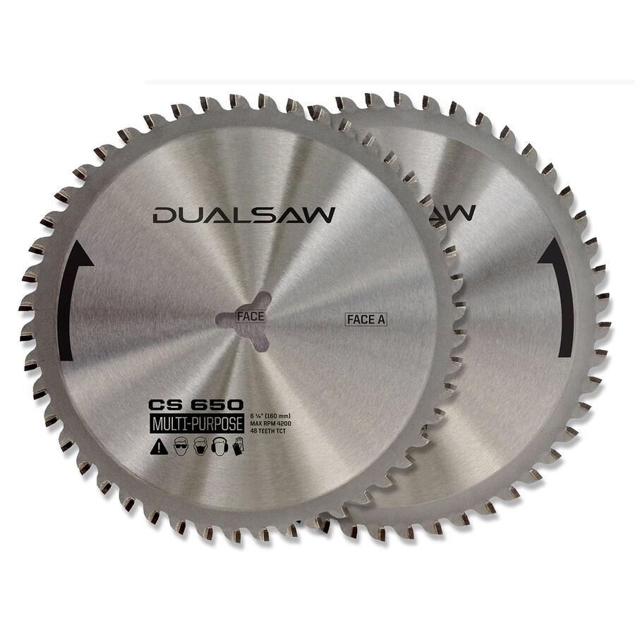 DualSaw Dual 2-Pack 6-1/4-in. All Purpose Circular Saw Blade Set