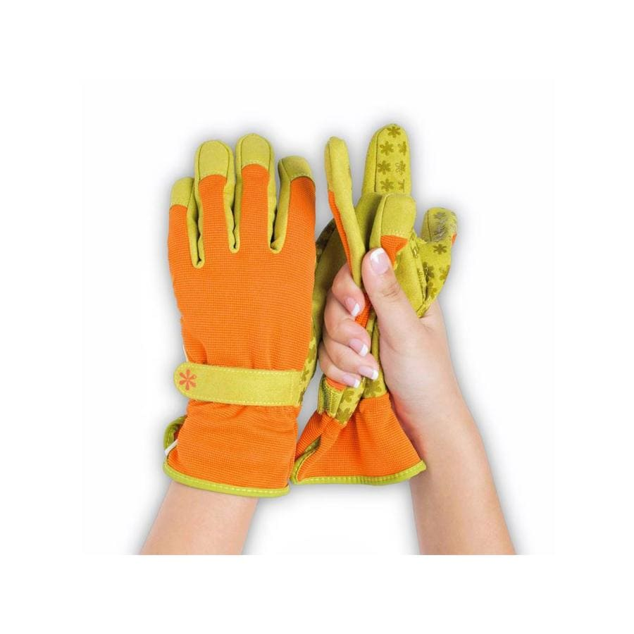 Dig It Handwear Women's X-Large Orange/Green Polyester Garden Gloves