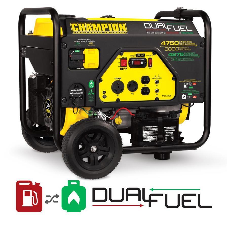 Champion Power Equipment 3800-Running-Watt Portable Generator with Champion Engine