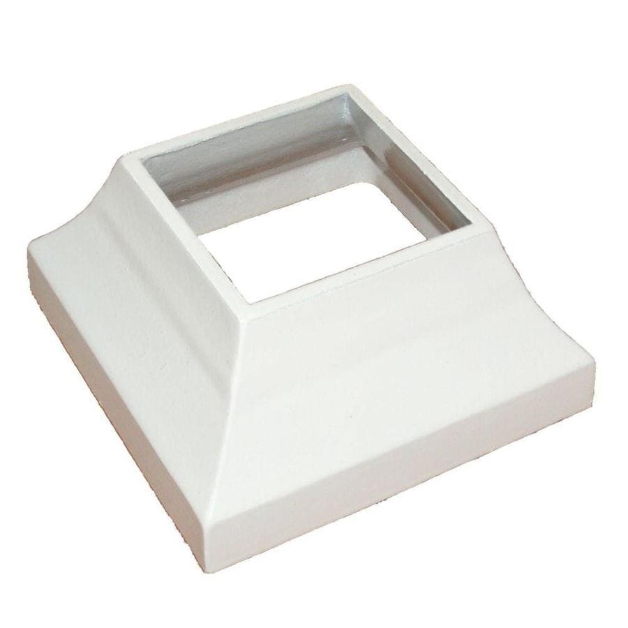 Wolf Handrail Post Skirts Prefinished Aluminum Porch Post Base Cover (Fits Common Post Measurement: 2-1/2-in x 2-1/2-in)