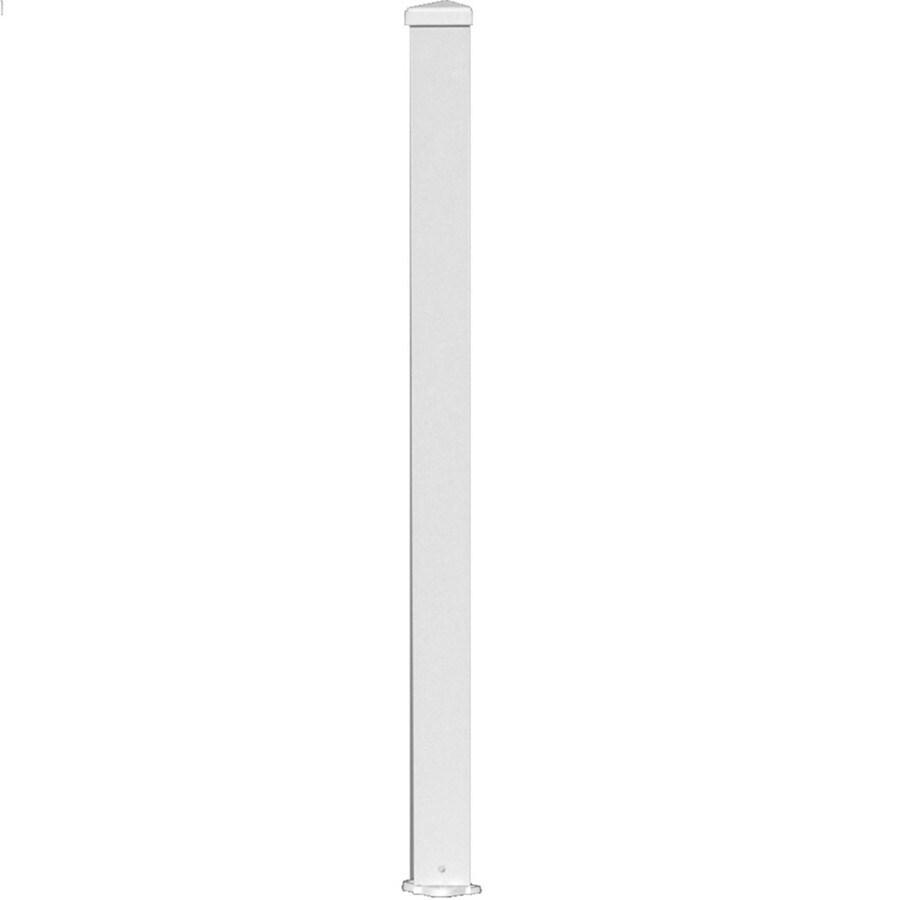 Wolf Handrail 3-in W x 3-in L x 72-in H Prefinished Aluminum Porch Post Kit