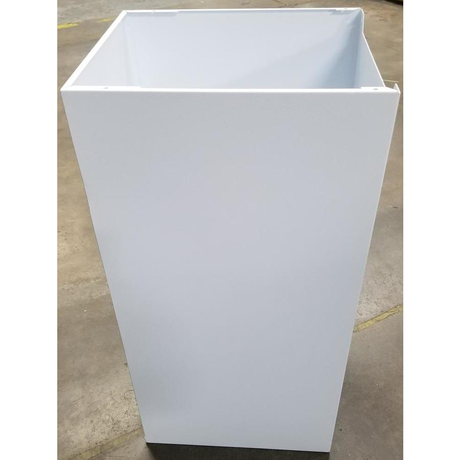 dVault 14.5-in x 34-in Metal White Lockable Wall Mount Mailbox