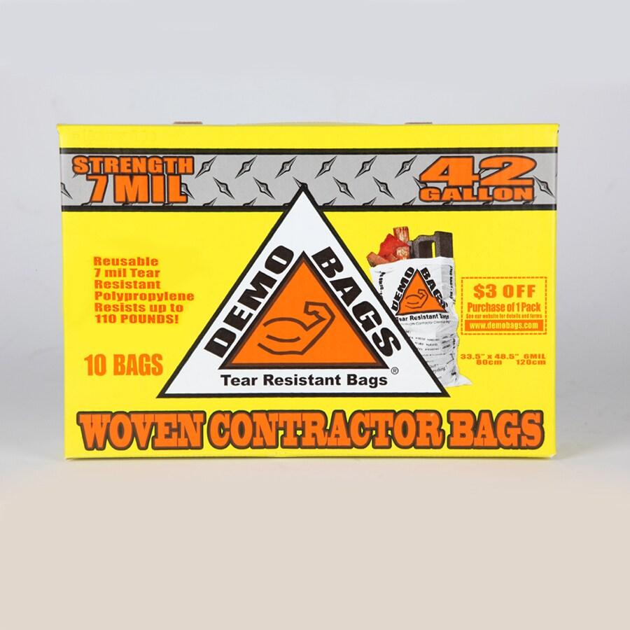 DEMO BAGS 10-Count 42-Gallon Indoor/Outdoor Trash Bags