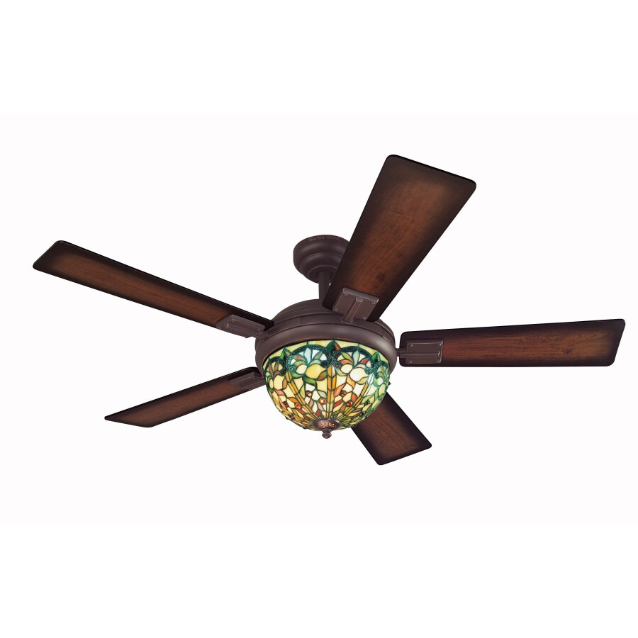 Harbor Breeze 52-in Ellison Aged Bronze Ceiling Fan with Light Kit