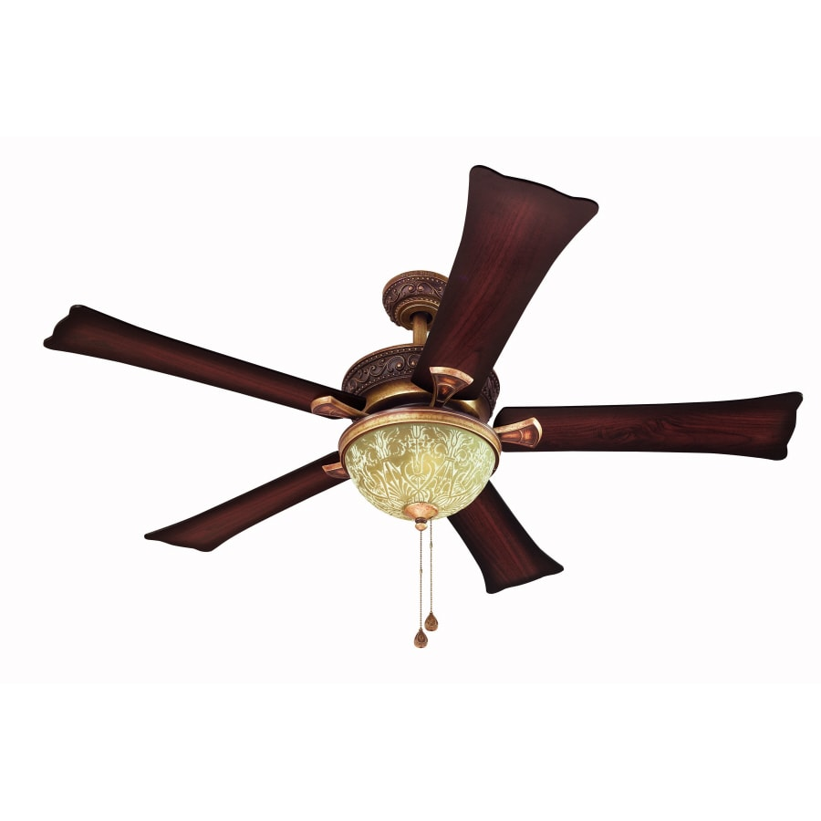 Harbor Breeze 52-in Fairfax Torino Gold Ceiling Fan with Light Kit