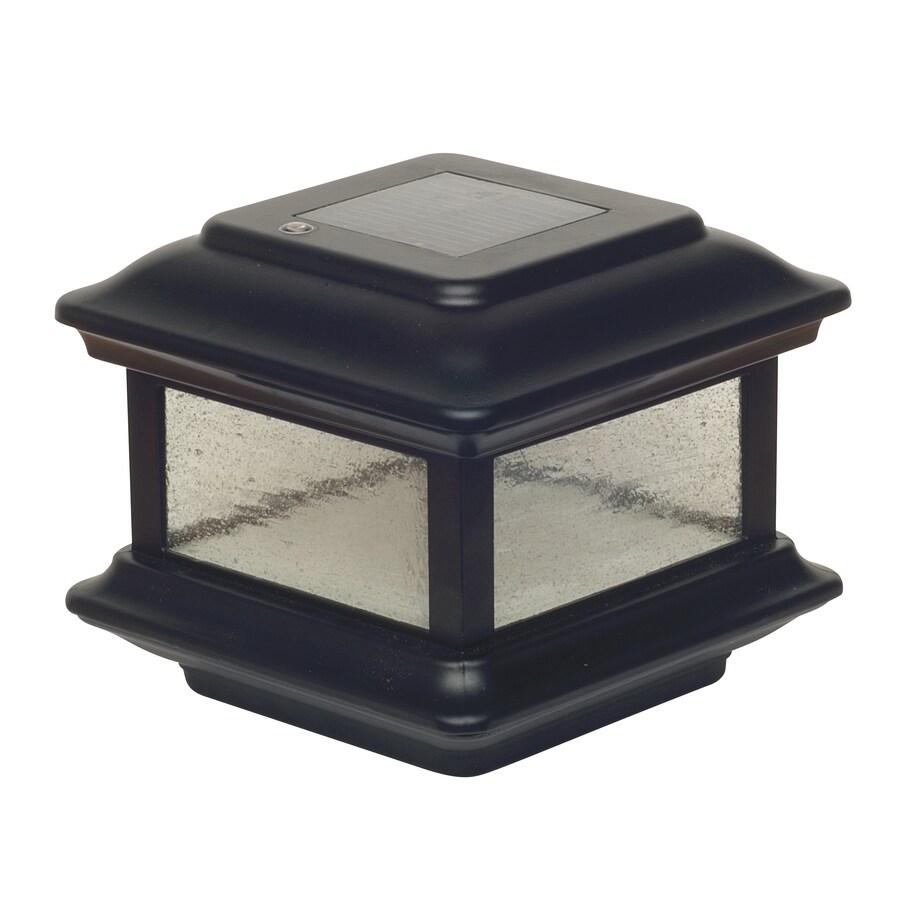 Classy Caps Colonial Black Solar LED Aluminum Deck Post Cap (Fits Common Post Measurement: 4-in x 4-in; Actual: 5-in x 6-in x 6-in)