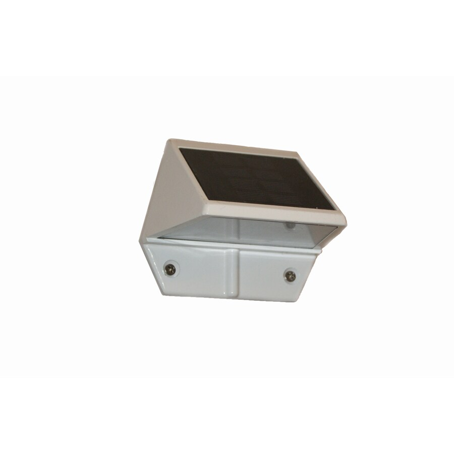 caps 3 in h led white solar dark sky outdoor wall light at