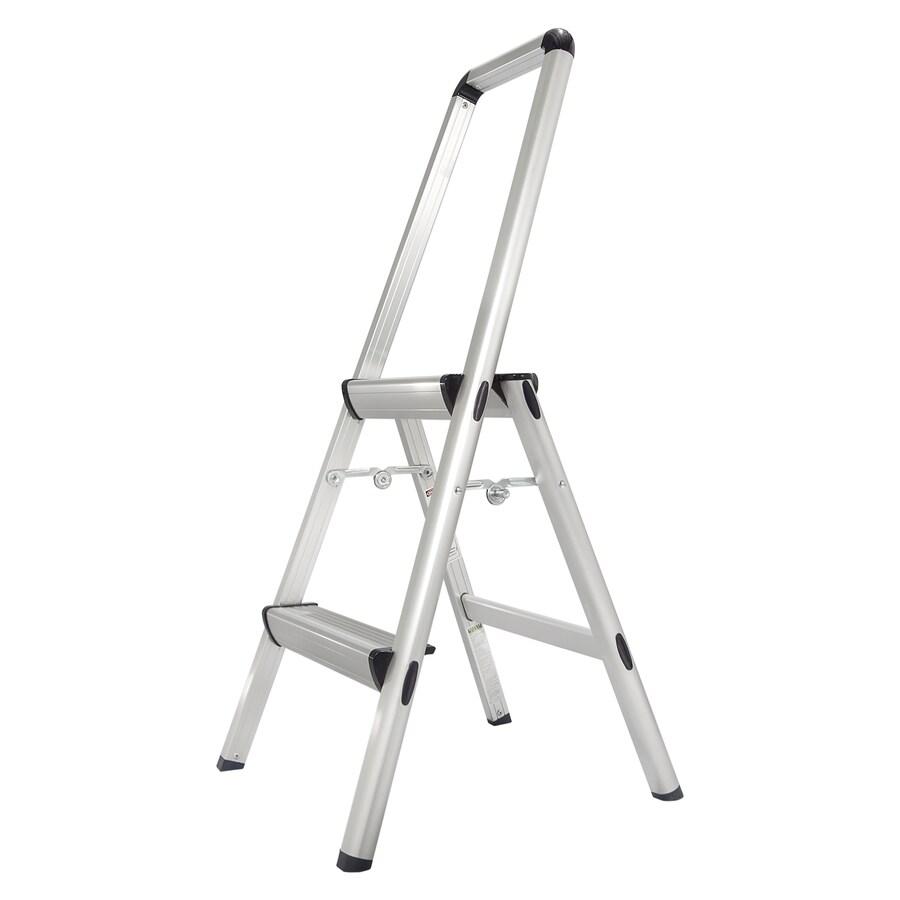 Xtend & Climb 2-Step Silver Aluminum Step Stool