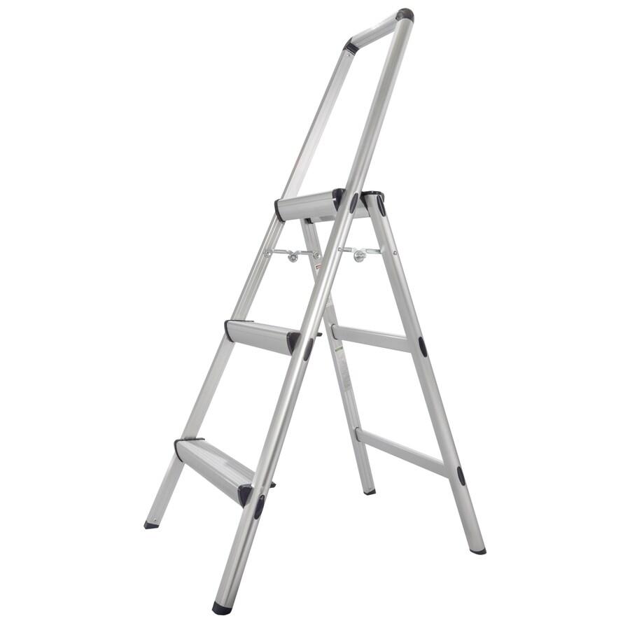 Xtend & Climb 3-Step Aluminum Step Stool with Hand Rail
