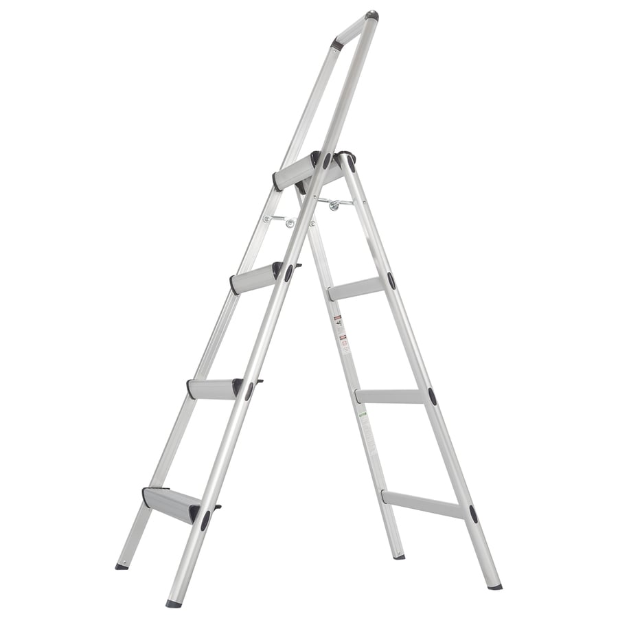Xtend & Climb 4-Step Aluminum Step Stool with Hand Rail