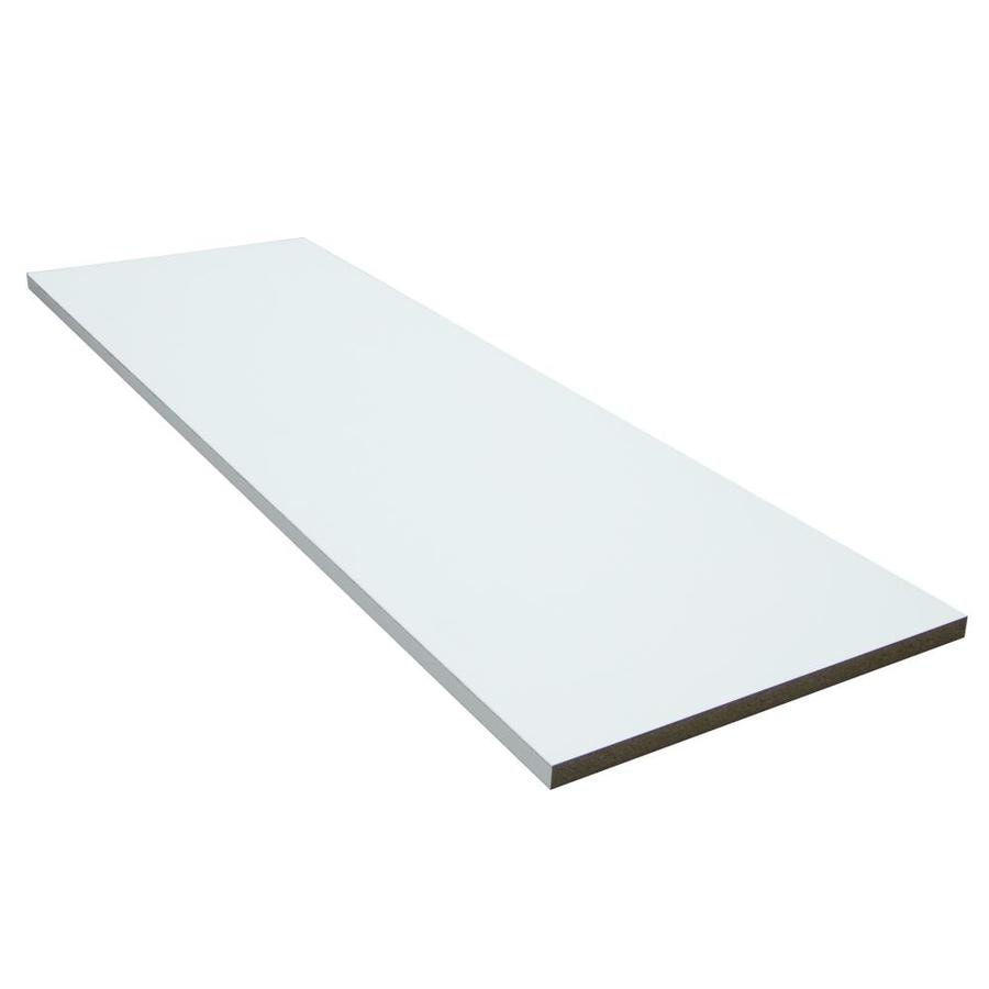 Real Organized 73-in x 12-in White Shelf Board