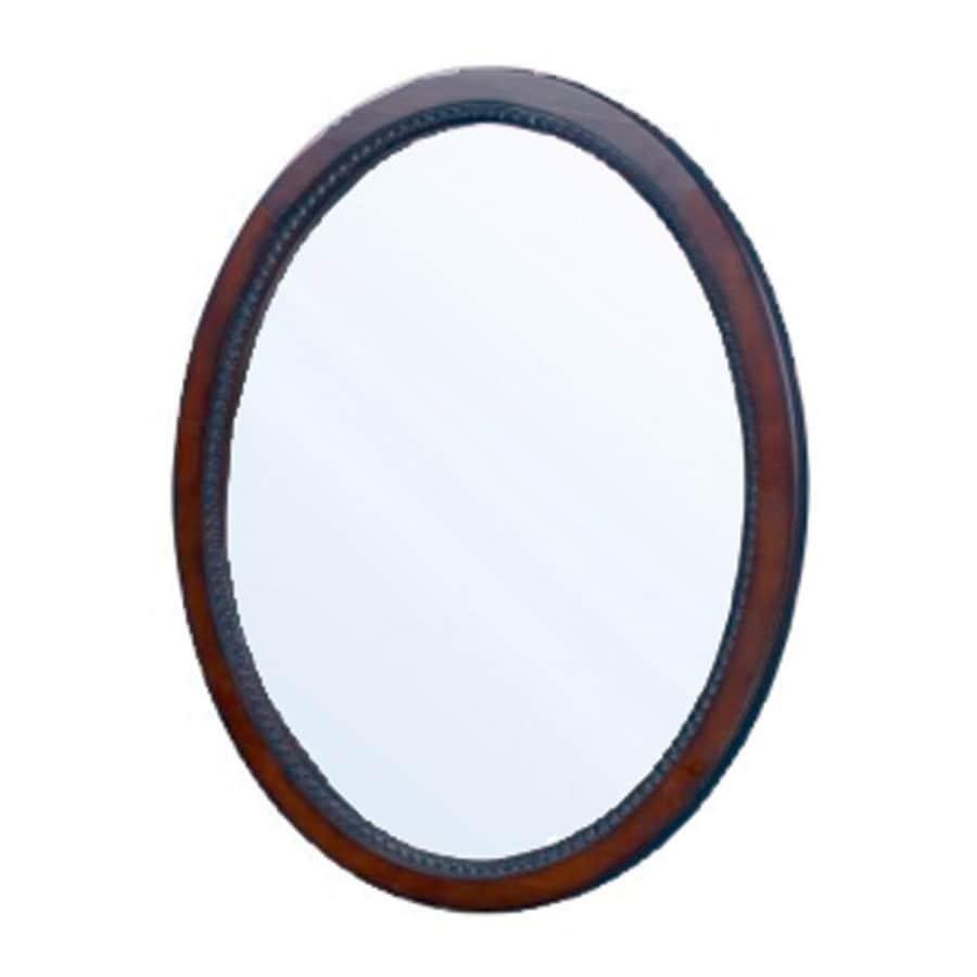 "allen + roth 32""H x 24""W Buellton Cherry Oval Bath Mirror"