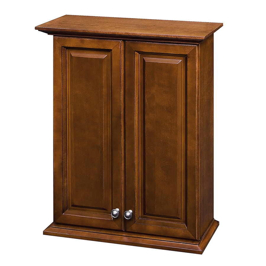 Shop Allen Roth Caladium 24 In W X 30 In H X 8 In D Cherry Poplar Bathroom Wall Cabinet At