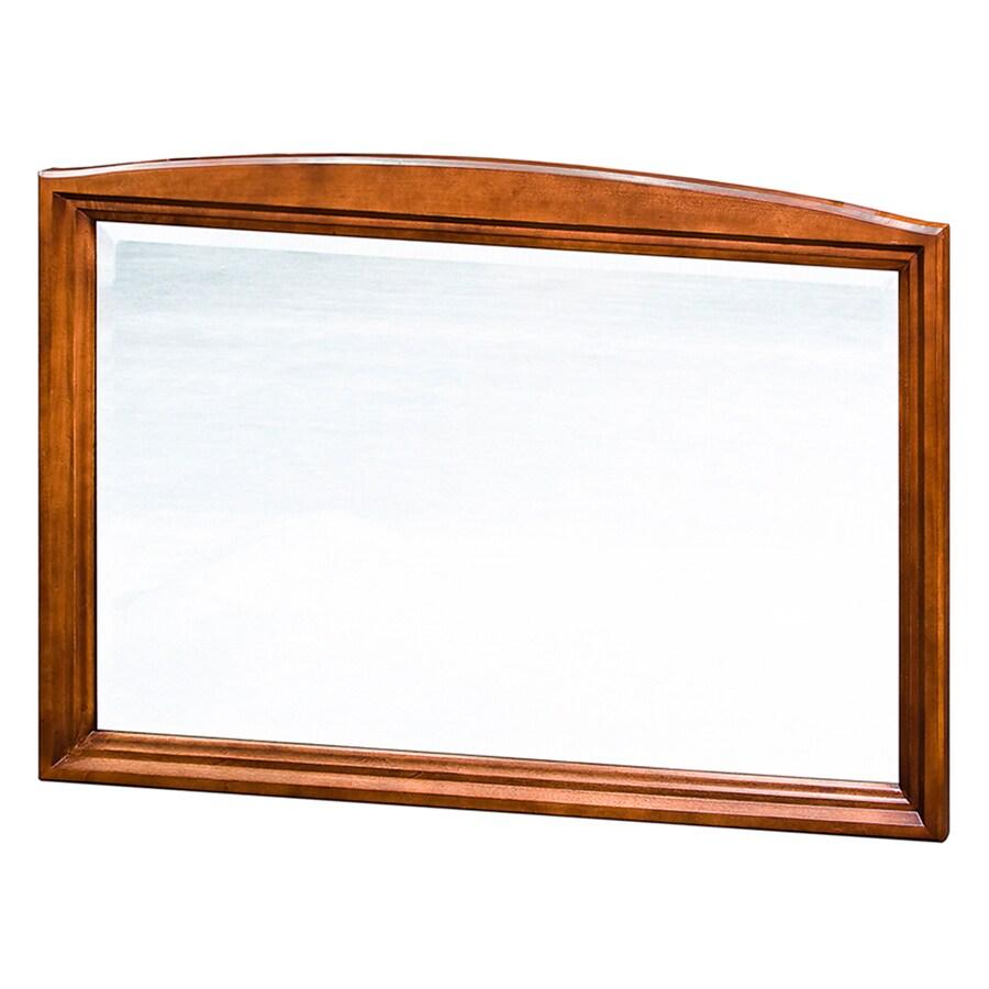 allen + roth Caladium 42-in W x 30-in H Cherry Rectangular Bathroom Mirror