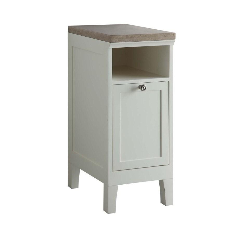 allen + roth Norbury 13-in W x 32.3-in H x 19.5-in D White Poplar Linen Cabinet