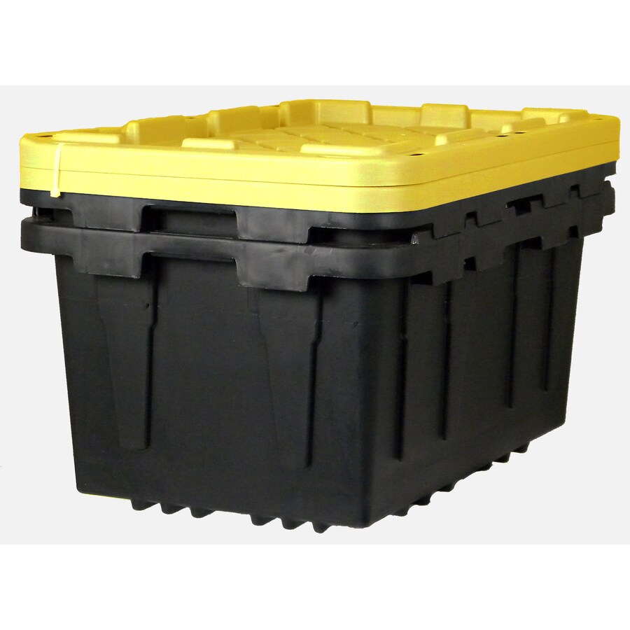 Centrex Plastics, LLC 2-Pack 17-Gallon Tote with Standard Snap Lid