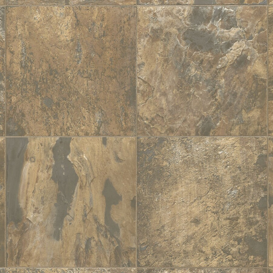 Armstrong 12-ft W Sedona Clay Stone Low-Gloss Finish Sheet Vinyl