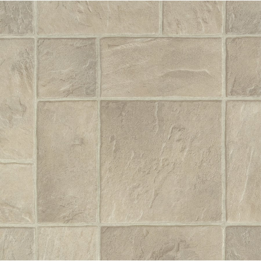 Armstrong 12-ft W Beige Patina Tile Low-Gloss Finish Sheet Vinyl