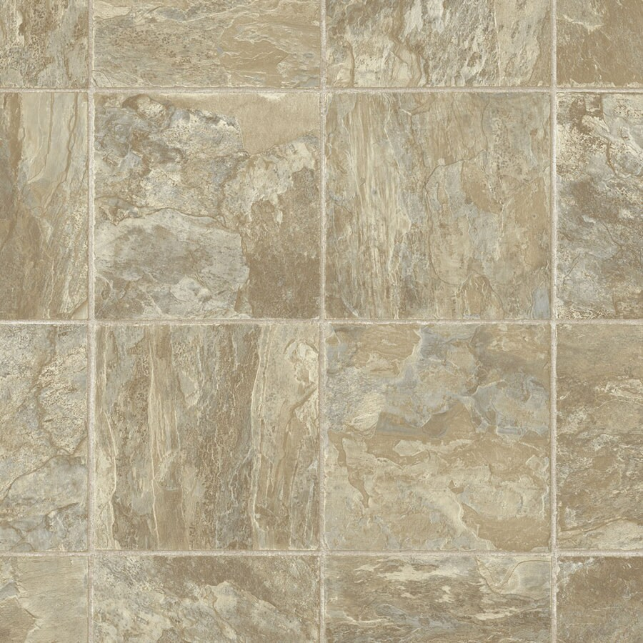 Armstrong 12-ft W Natural Slate Stone Low-Gloss Finish Sheet Vinyl