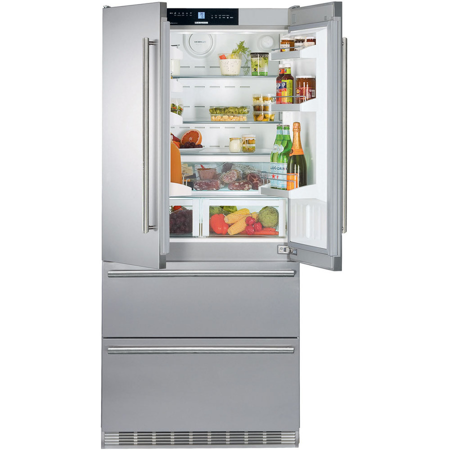 Liebherr 19.5-cu ft Counter-Depth French Door Refrigerator with Single Ice Maker (Stainless Steel) ENERGY STAR