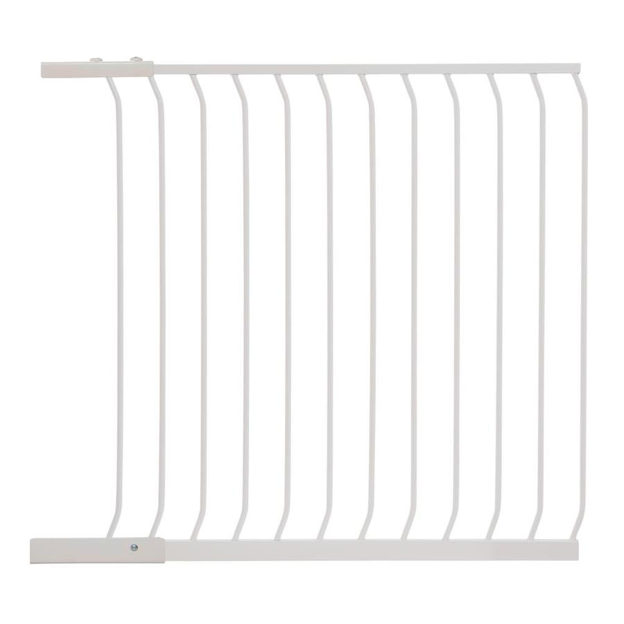 Dreambaby Chelsea Tall Auto-Close 39-in x 39.5-in White Metal Child Safety Gate