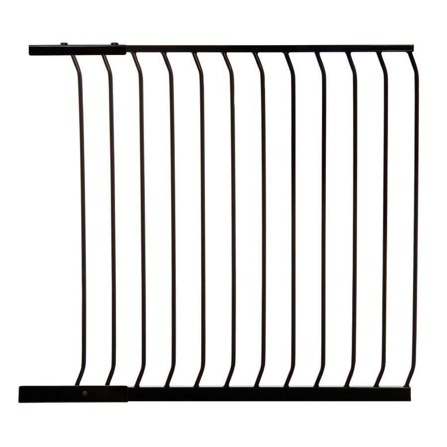 Dreambaby Chelsea Tall Auto-Close 39-in x 39.5-in Black Metal Child Safety Gate