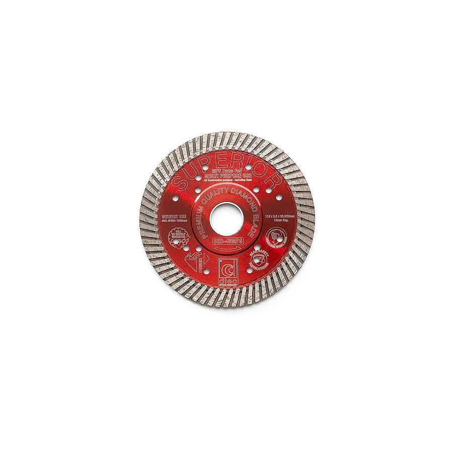 """Dtec 4.5"""" SUPERIOR DIAMOND BLADE - Wet/Dry Multi-Purpose Turbo, continuous rim"""