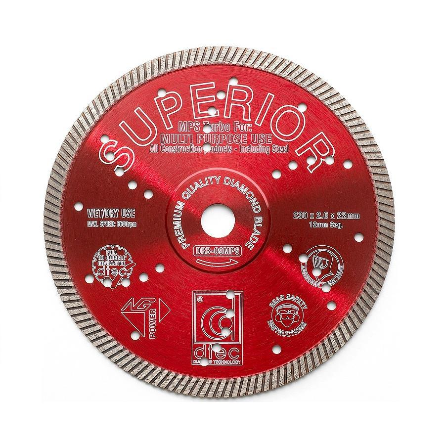 Dtec Classic 9-in Wet or Dry Turbo Circular Saw Blade