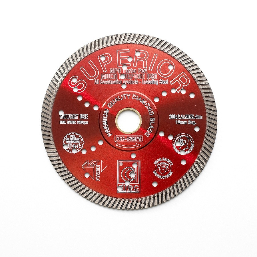 Dtec Classic 8-in Wet or Dry Turbo Circular Saw Blade