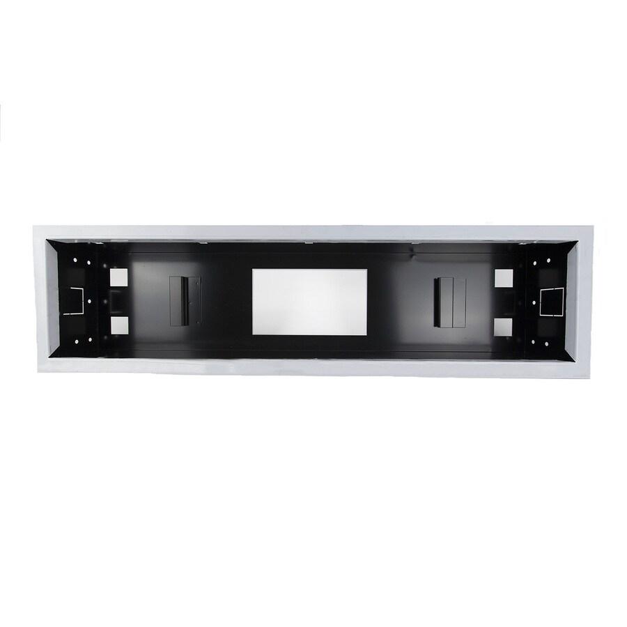 HeatStrip Black and Silver Aluminum Patio Heater Ceiling-Mount Enclosure