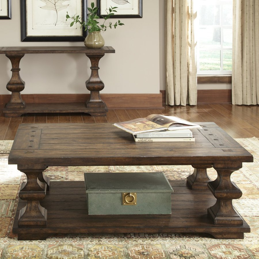 Liberty Furniture Sedona Kona Brown Oak Rectangular Coffee Table
