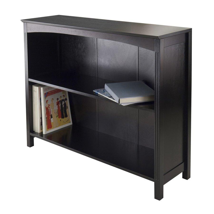 Winsome Wood Terrace Espresso 37-in W x 30-in H x 11.8-in D 2-Shelf Bookcase