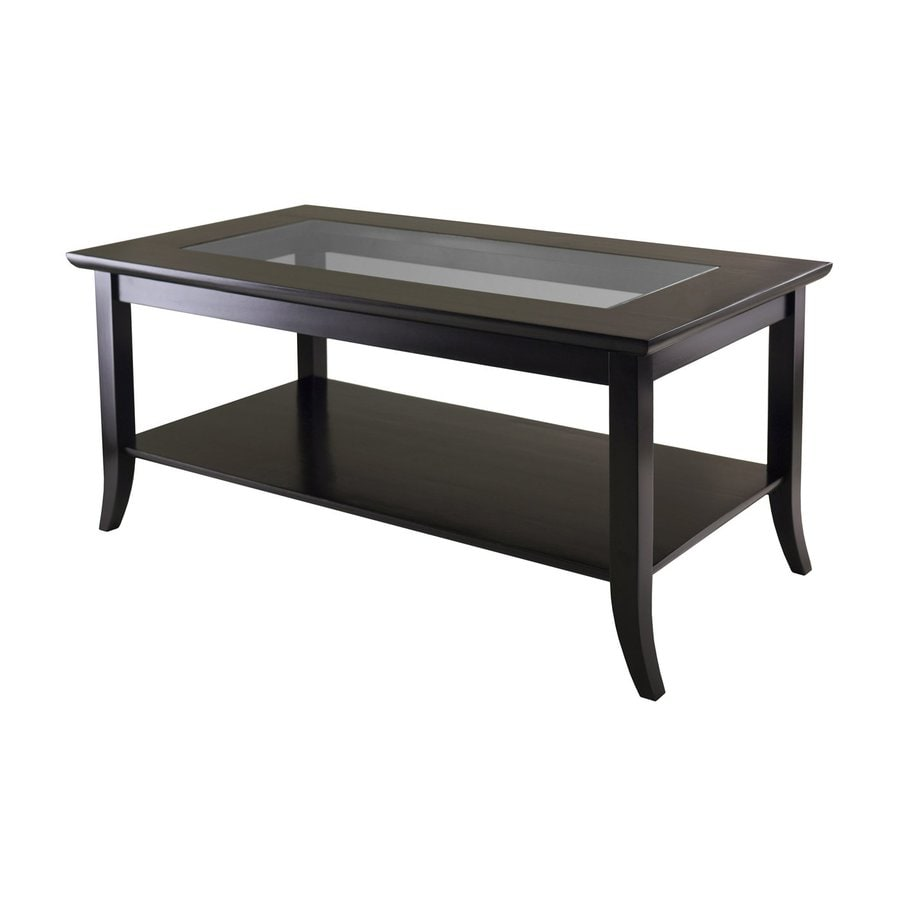 Shop winsome wood genoa dark espresso rectangular coffee table at Dark wood coffee tables