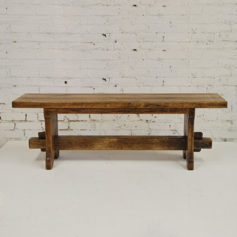 Shop Artesano Iron Works Provincial Rustic Wood 54 In Dining Bench At