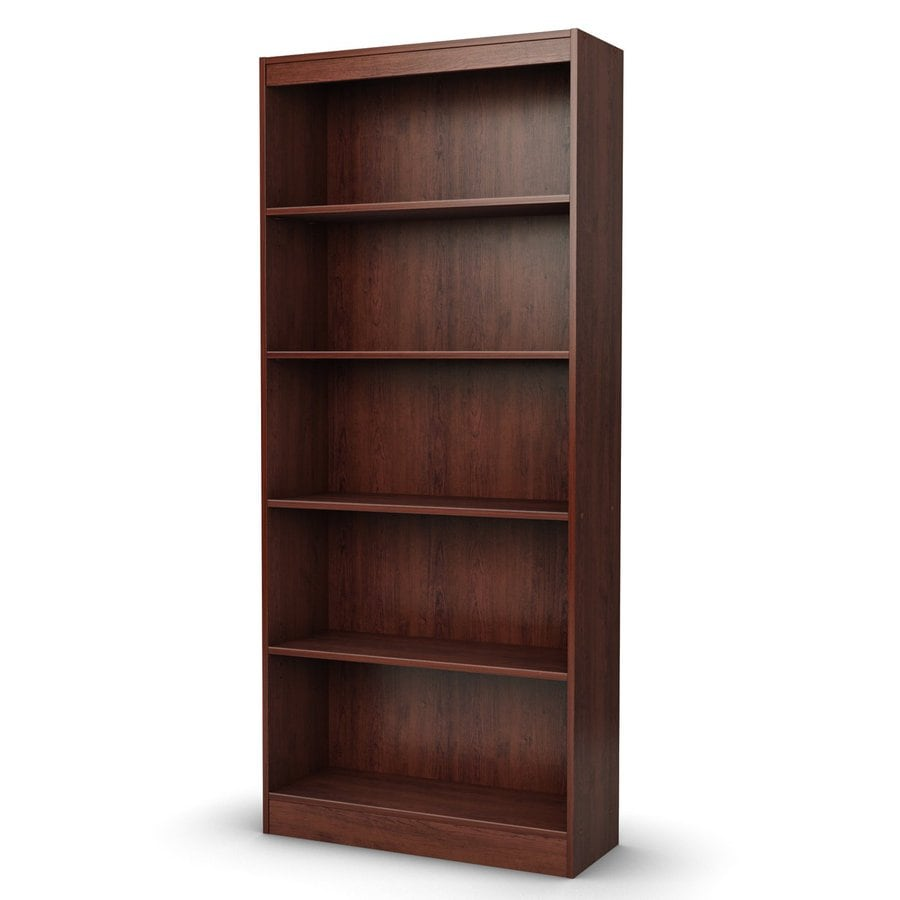 South Shore Furniture Axess Royal Cherry Finish 30.75-in W x 71.25-in H x 11.5-in D 5-Shelf Bookcase