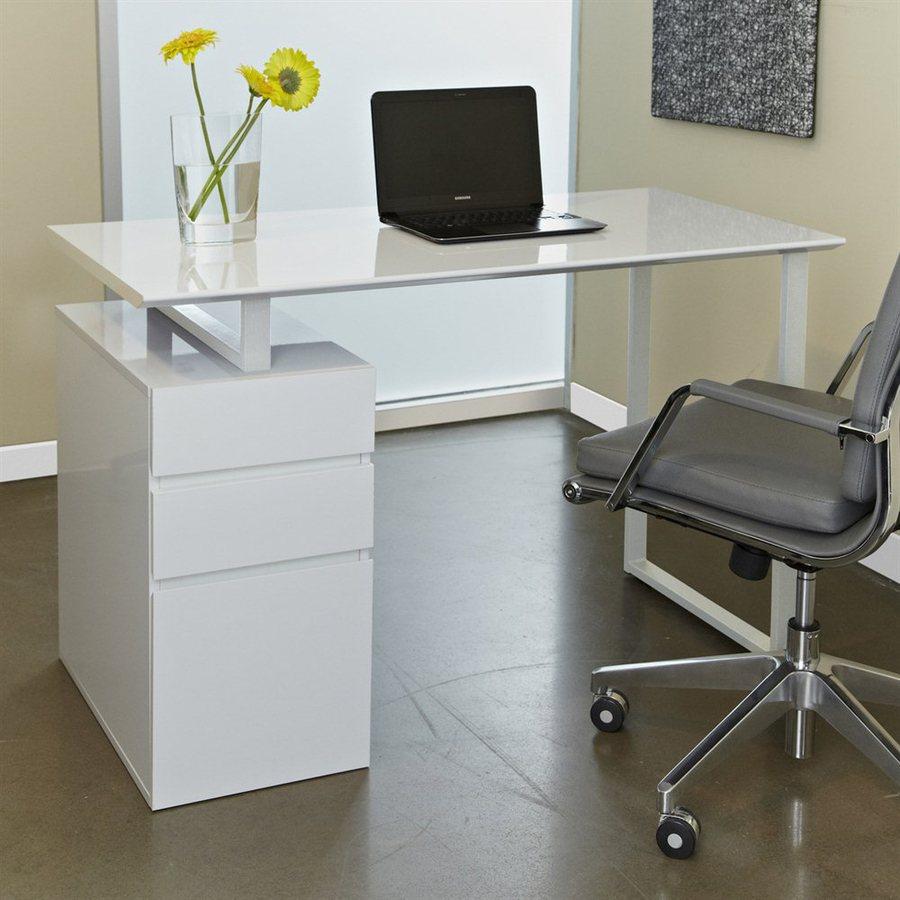 Jesper Office Tribeca White Writing Desk