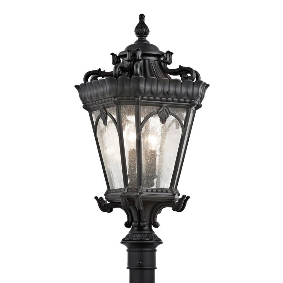 Kichler Lighting Tournai 30-in H Textured Black Post Light
