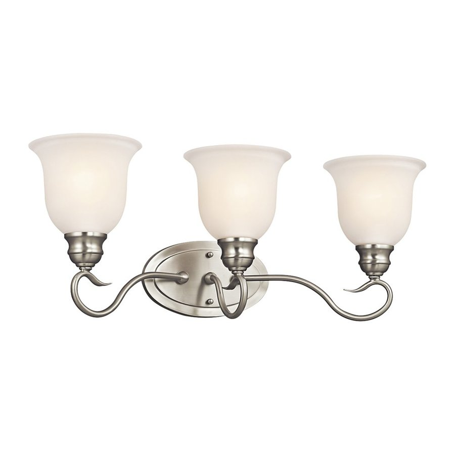 Kichler Lighting 3-Light Tanglewood Brushed Nickel Bathroom Vanity Light