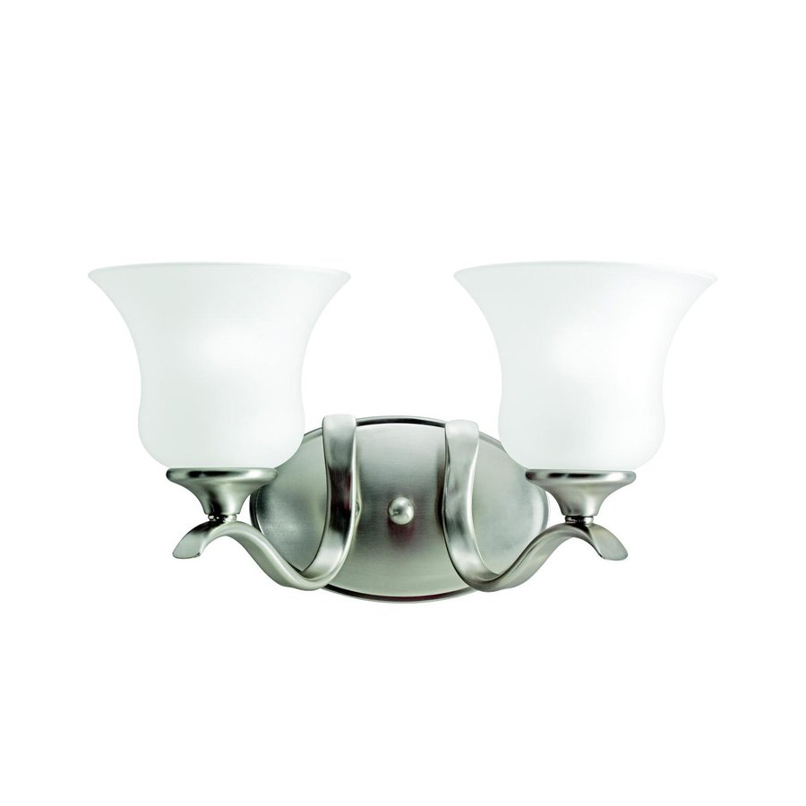 Kichler Lighting 2-Light Wedgeport Brushed Nickel Transitional Vanity Light