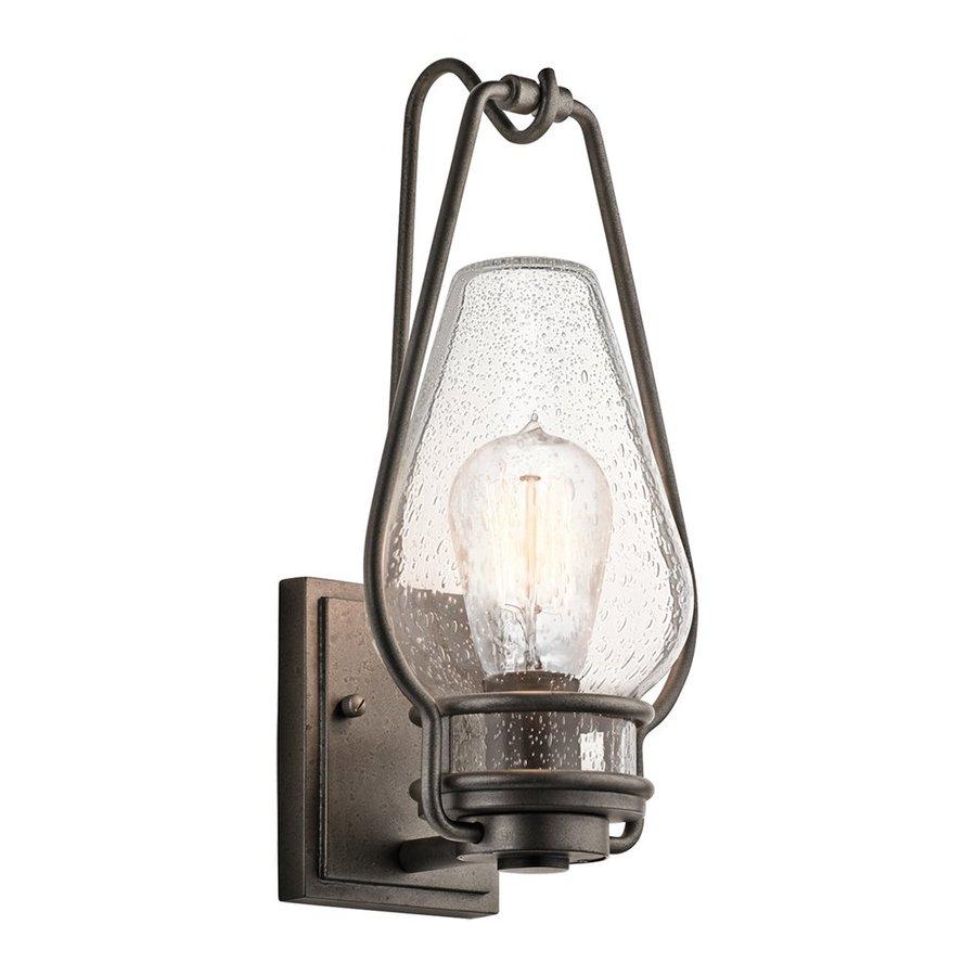 Kichler Lighting Hanford 14.5-in H Anvil Iron Outdoor Wall Light