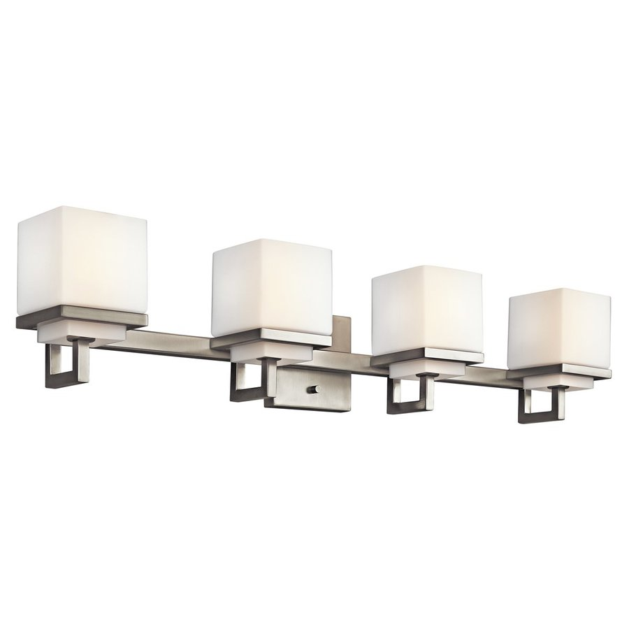 4 Light Brushed Nickel Vanity Lights : Shop Kichler Lighting 4-Light Metro Park Brushed Nickel Modern Vanity Light at Lowes.com