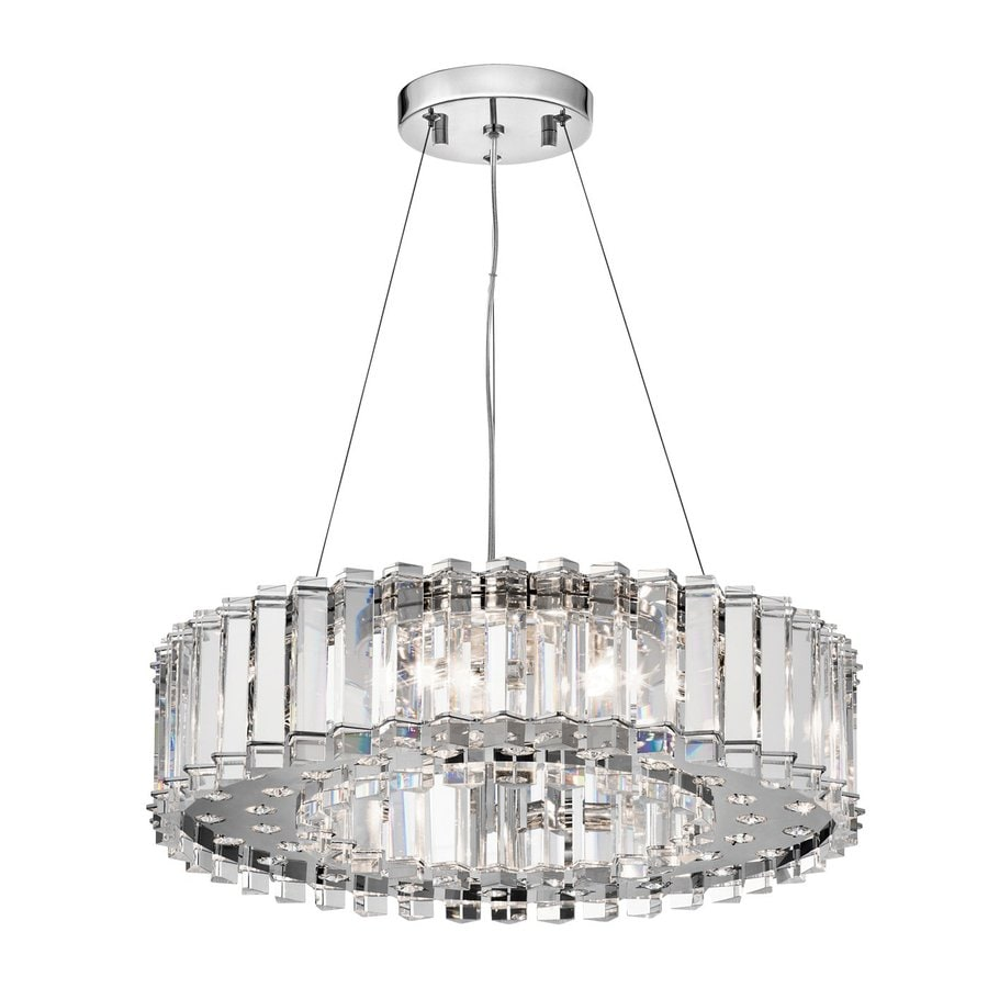 Kichler Lighting Crystal Skye 20.75-in Chrome Crystal Hardwired Single Crystal Drum Pendant