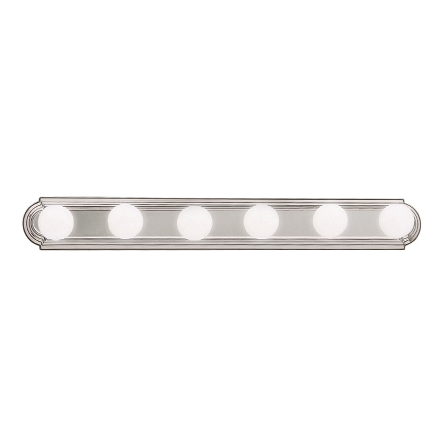 Shop Kichler Lighting 6 Light Brushed Nickel Bathroom Vanity Light At