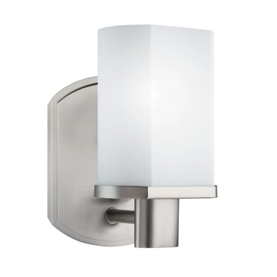 Kichler Vanity Lights Lowes : Shop Kichler Lighting 1-Light Lege Brushed Nickel Modern Vanity Light at Lowes.com