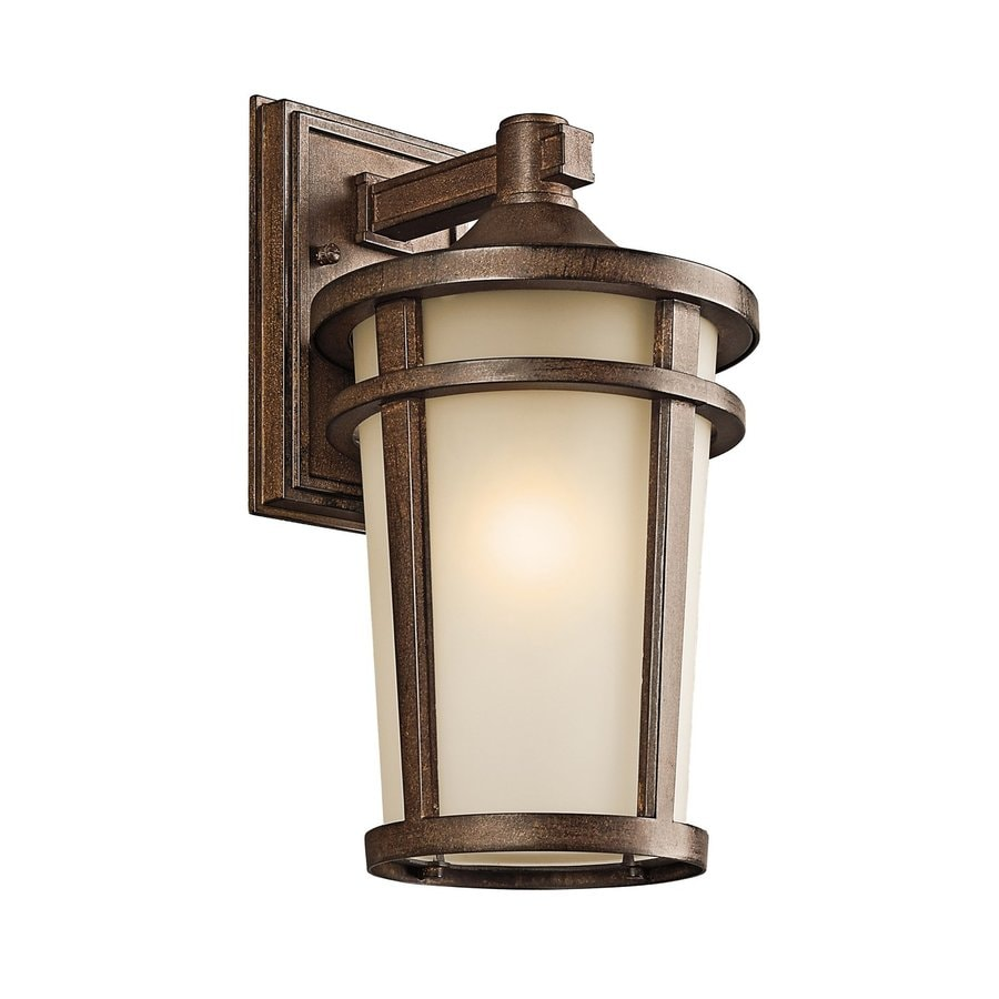 Shop Kichler Lighting Atwood H Brown Stone Outdoor Wall Light At Low