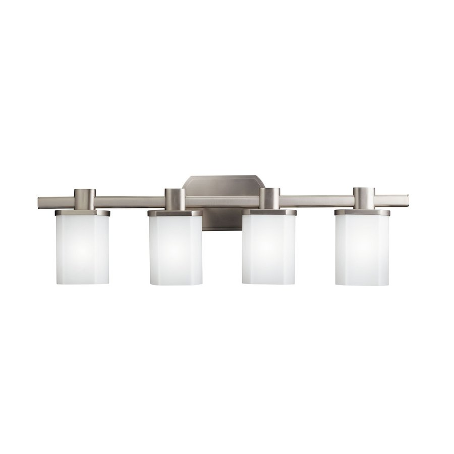 Vanity Lights Modern : Shop Kichler Lighting 4-Light Lege Brushed Nickel Modern Vanity Light at Lowes.com