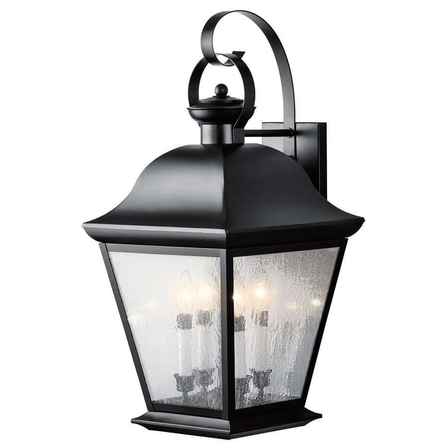 Shop Kichler Lighting Mount Vernon 27.75-in H Black Outdoor Wall Light at Lowes.com