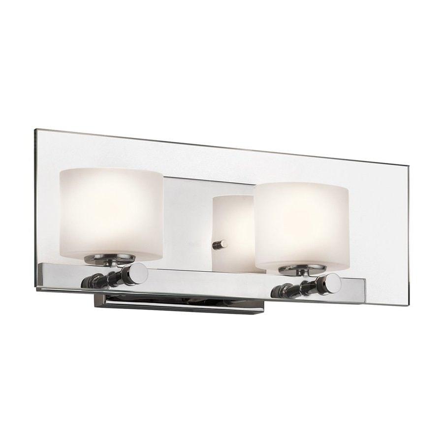 Kichler Lighting 2-Light Como Chrome Modern Vanity Light