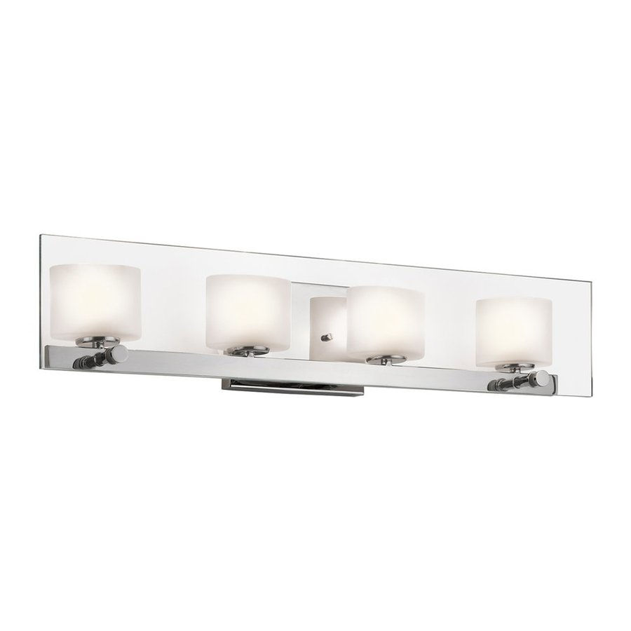 Modern Vanity Lighting Chrome : Shop Kichler Lighting 4-Light Como Chrome Modern Vanity Light at Lowes.com