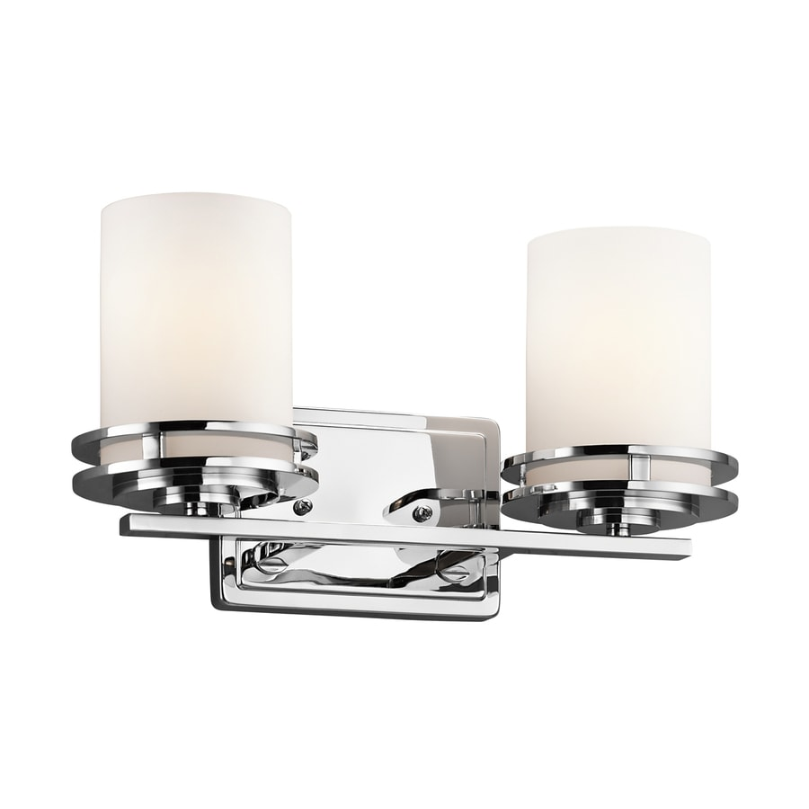Shop Kichler Lighting 2 Light Hendrik Chrome Bathroom Vanity Light At